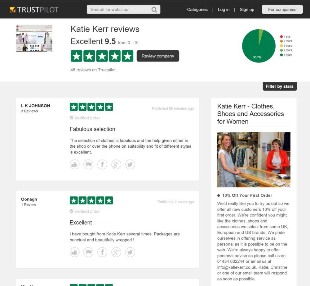 Katie Kerr on Trustpilot