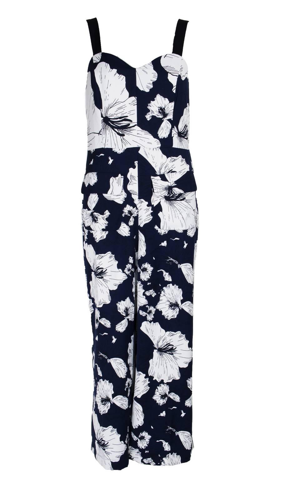 7be62ceff8d5 Jumpsuit Tropical Fauna Blue - Katie Kerr - Women s Clothing - UK