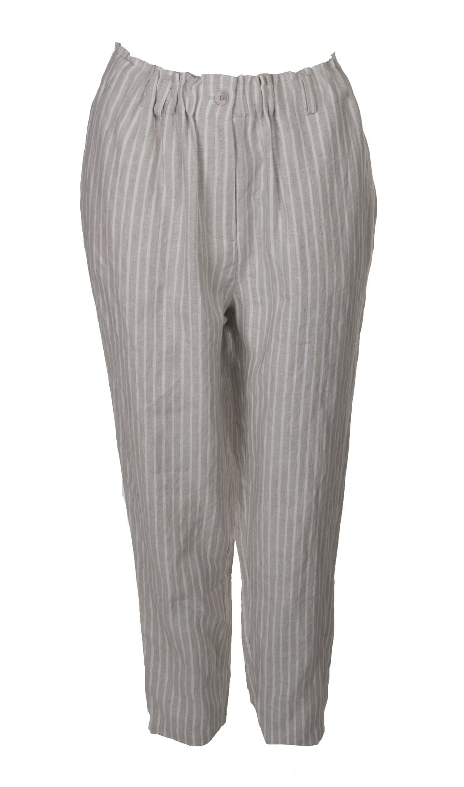 f108739fa922 Pamela Trousers Beige. Exquisite linen beige and white striped Pamela  trousers from Masai.