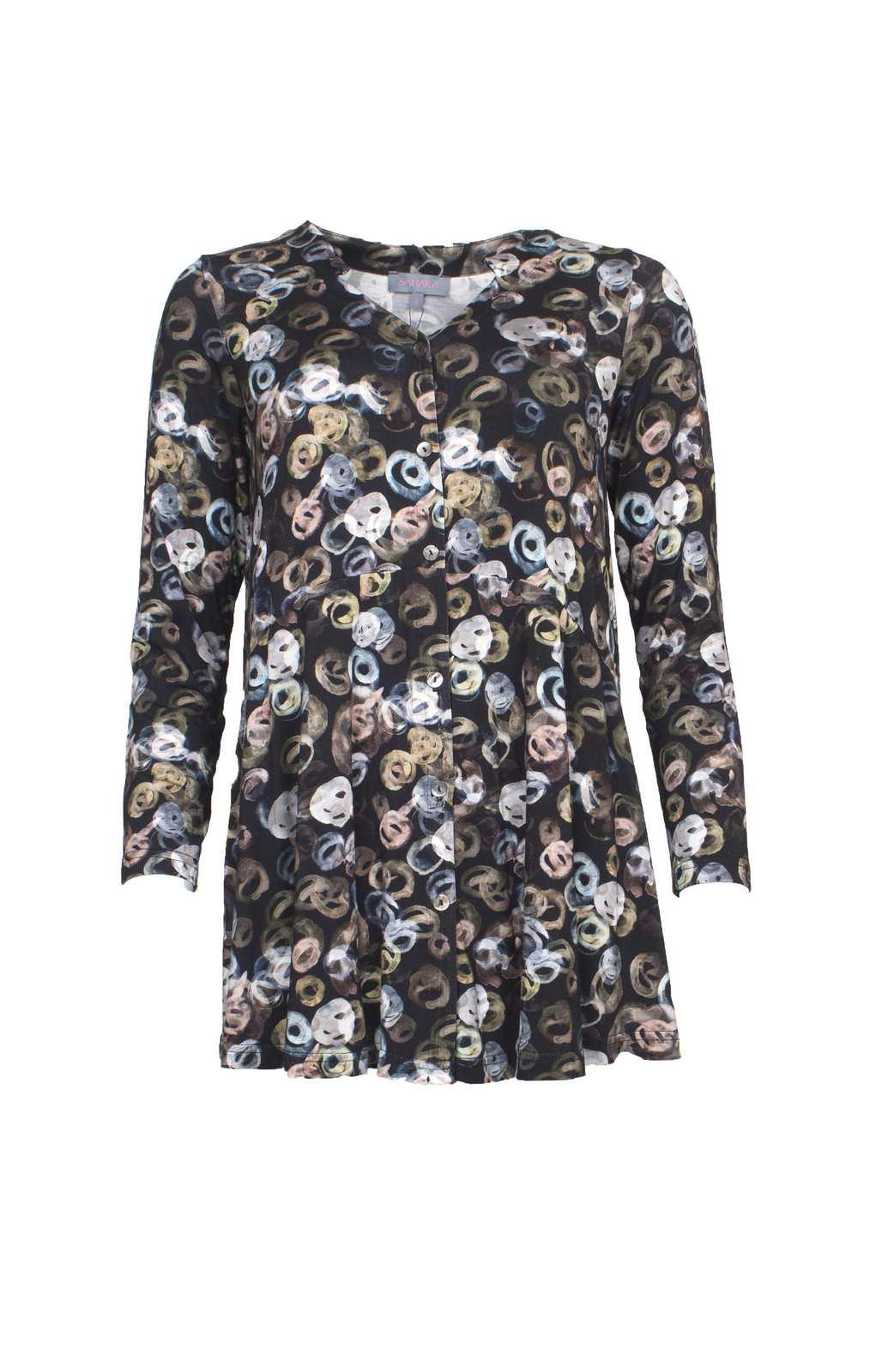 488c9ee80d2 Scribble Spot Swing Shirt Green - Katie Kerr - Women s Clothing - UK