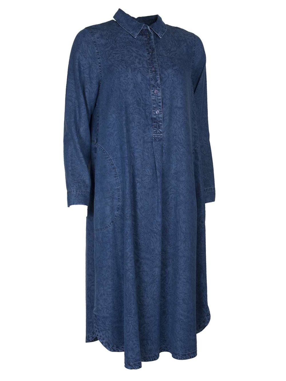 Floral Tencel Shirt Dress