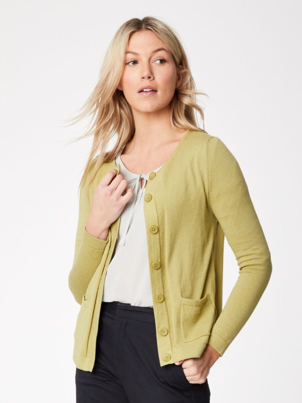 Thought Hatton Cardigan Moss