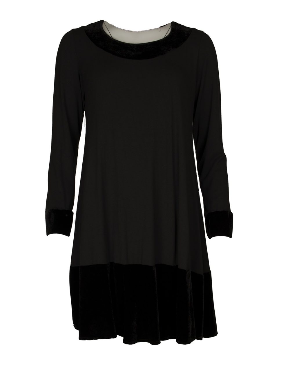 Velvet Trim Tunic Out of Xile Women's Clothing Katie Kerr