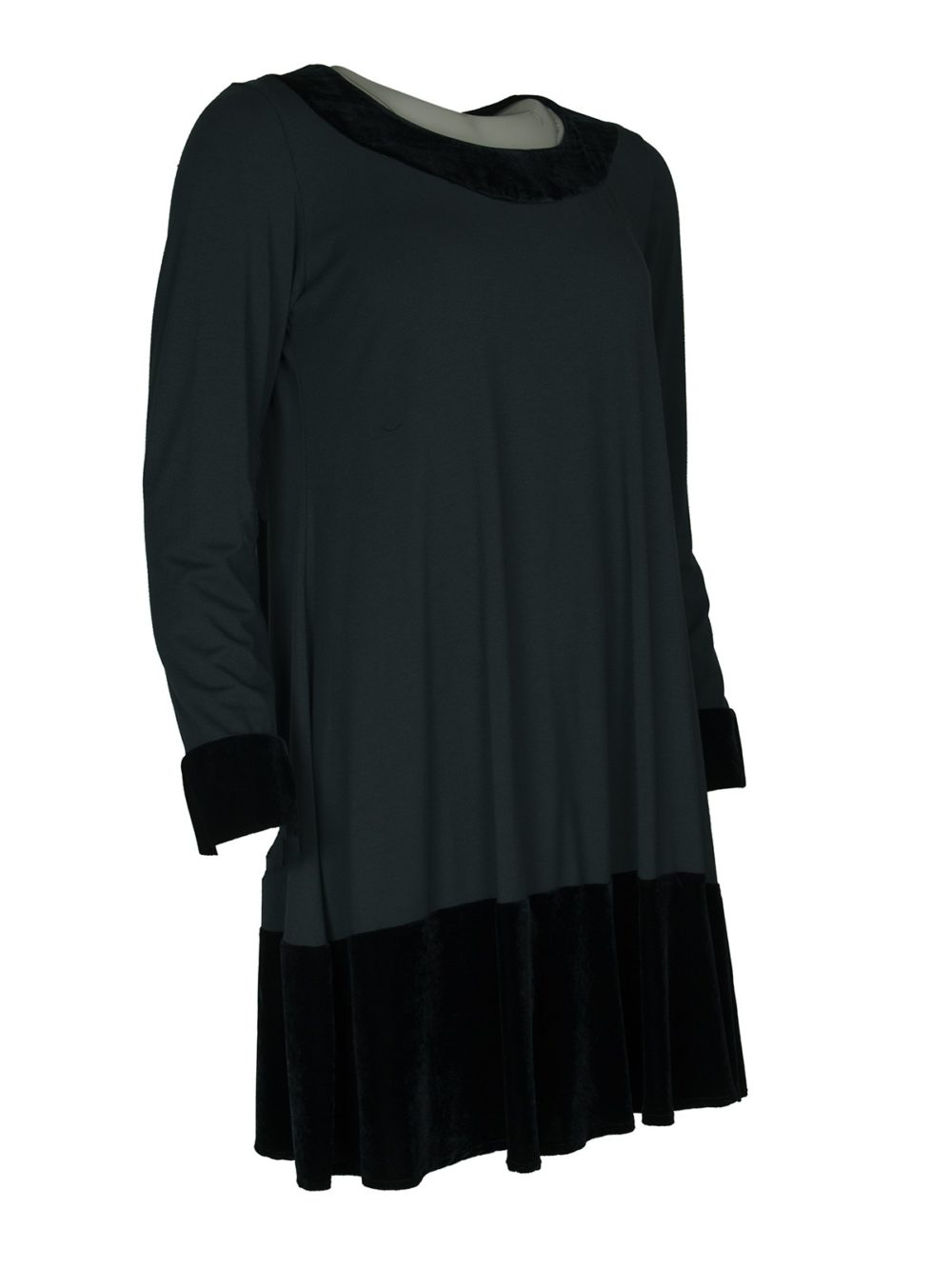 Velvet Trim Tunic Out of Xile Katie Kerr Women's clothing