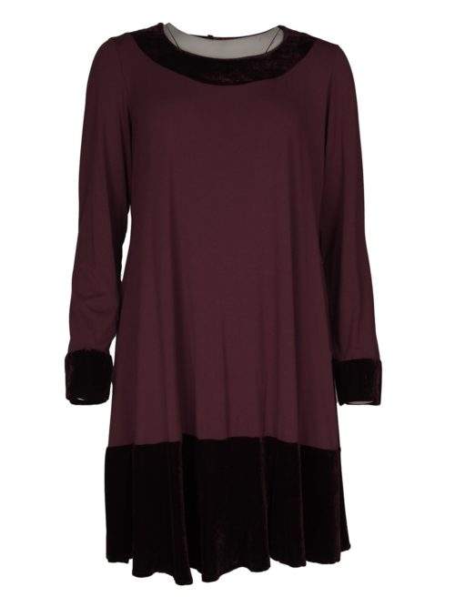 Velvet Trim Tunic 92v Out of Xile Katie Kerr Women's Clothing