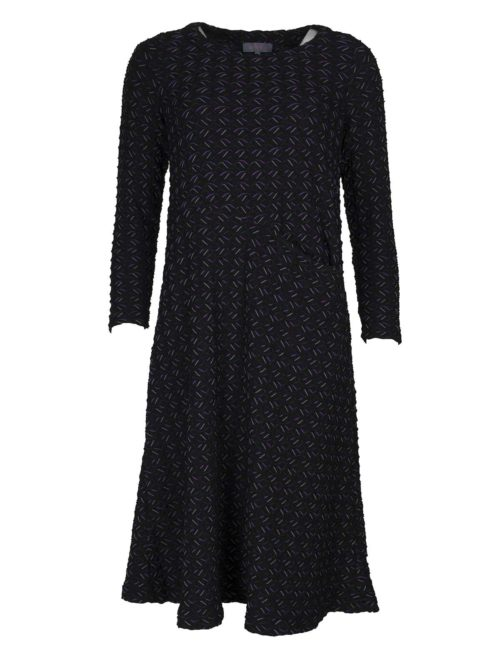 Textured Ripple Jersey Dress