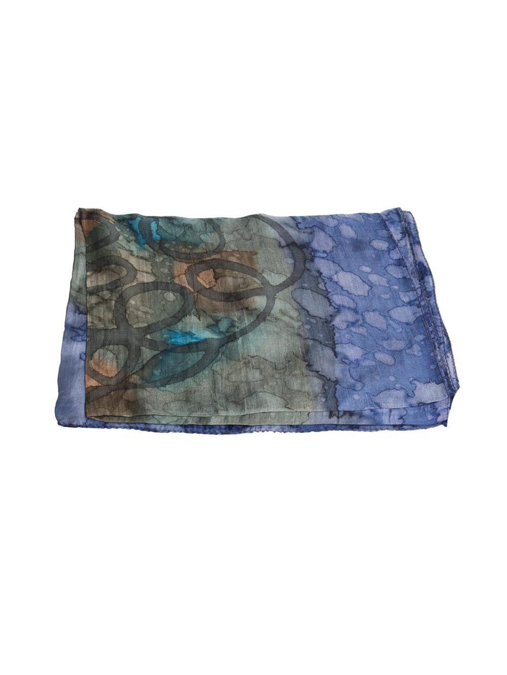 Gogo Single Scarf Blue manicay Katie Kerr Women's Accessories Women's Clothing