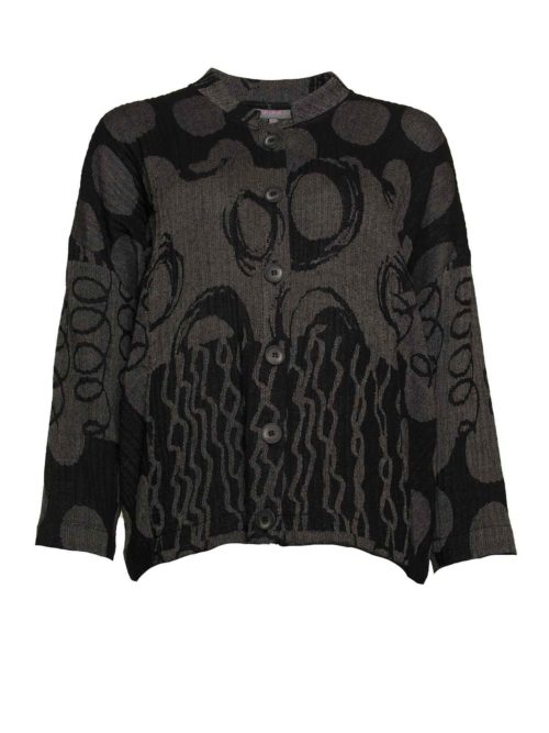 Abstract Jacquard Jacket Sahara Women's Clothing Women's Jackets
