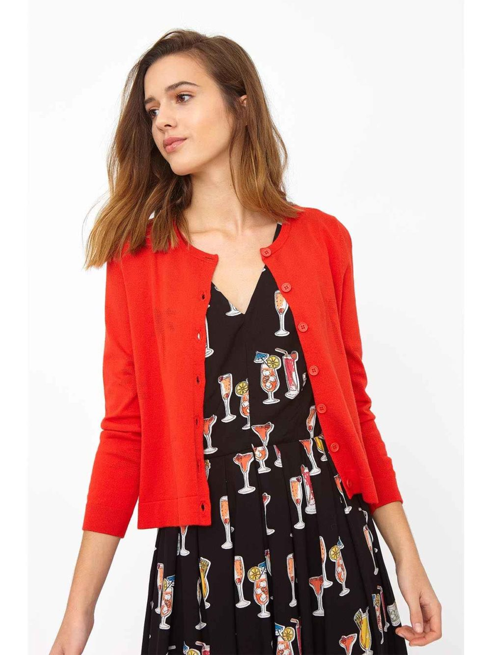 Lily Palm Tree Pointelle Cardi Emily and Fin Katie Kerr Women's Clothing
