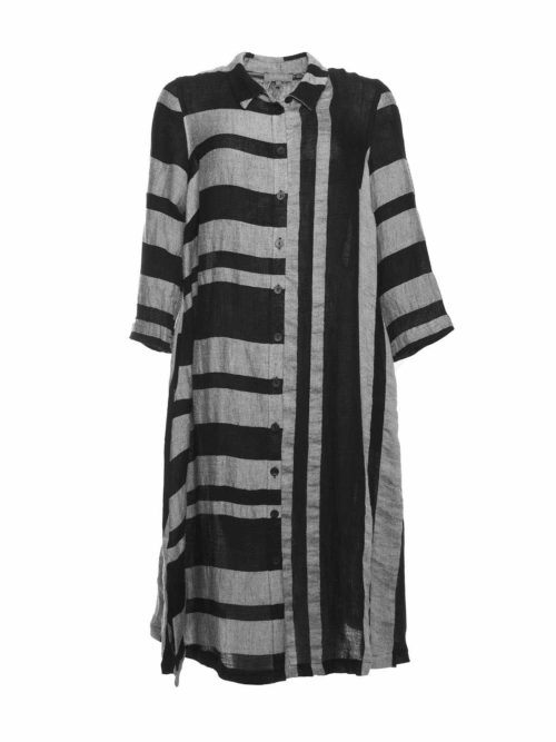 Linen Stripe Shirt Dress Sahara Katie Kerr Women's Clothing