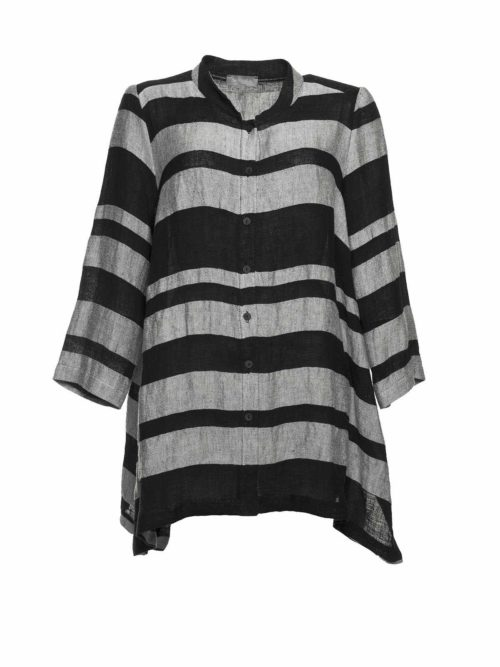 Linen Stripe Shirt Sahara Katie Kerr Women's Clothing