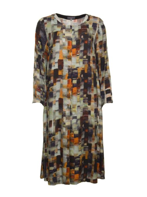 Painterly Woven Print Dress Sahara Katie Kerr Women's Clothing