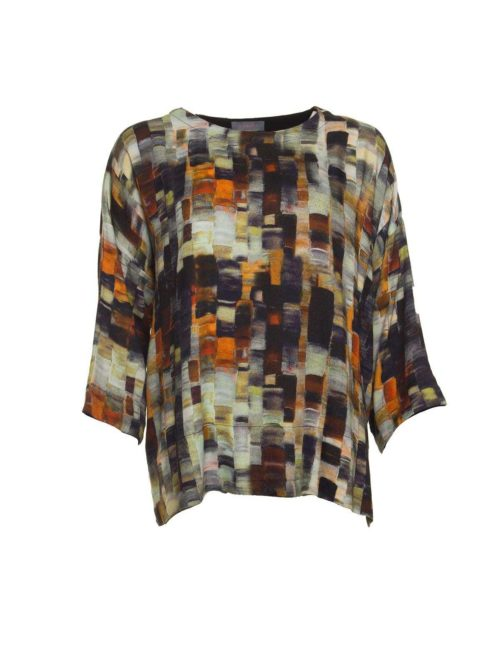 Painterly Woven Print Top Sahara Katie Kerr Women's Clothing