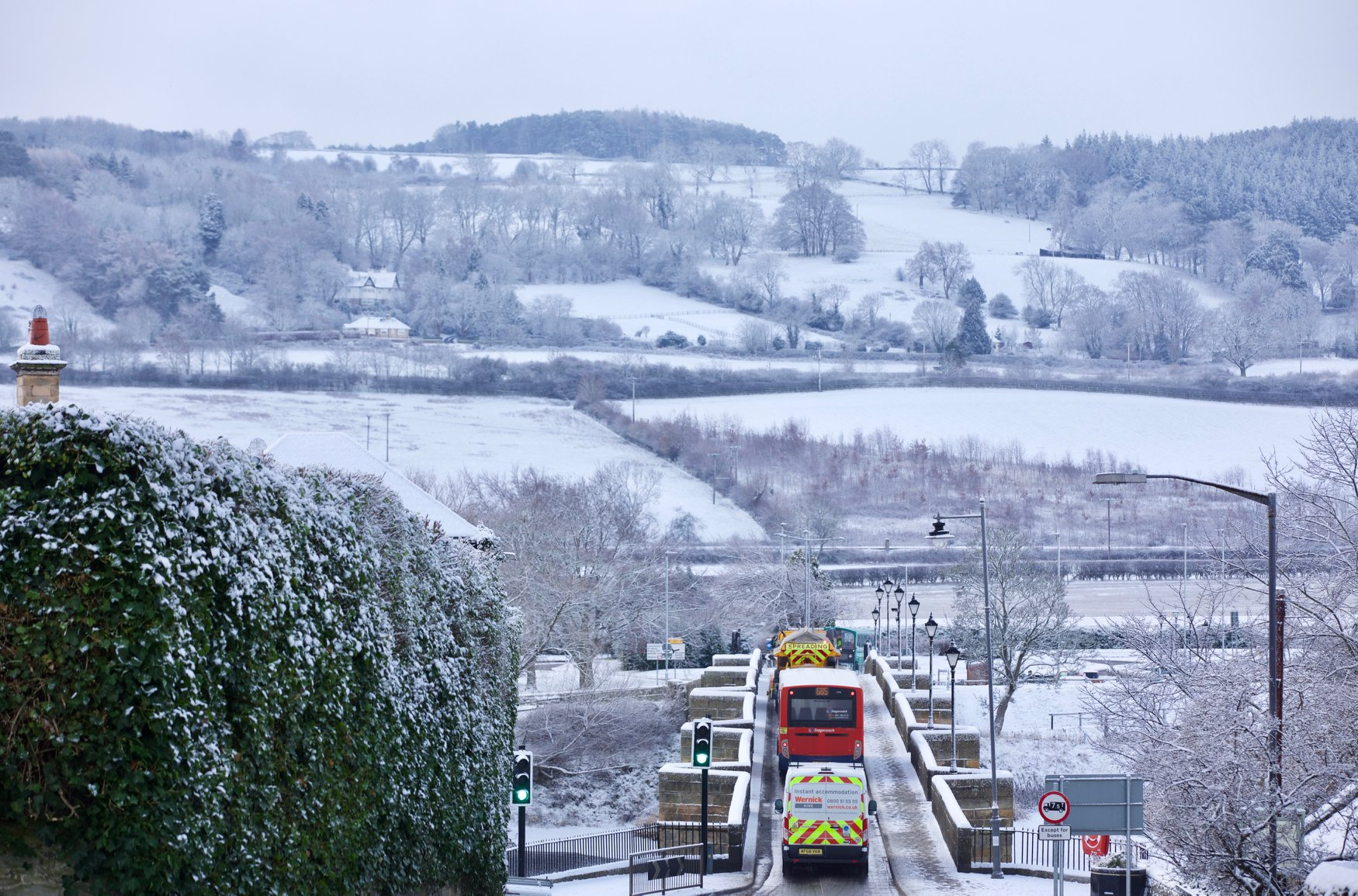 Corbridge Bridge in the Snow