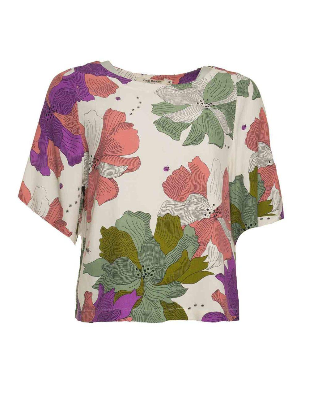 Big Nature Print Top Nice Things Katie Kerr Women's Clothing