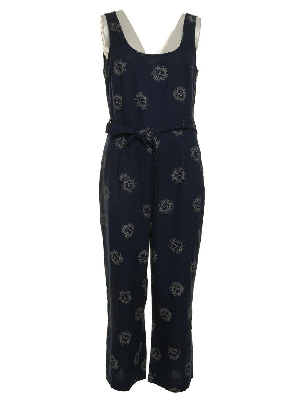 Sun Faces Print Jumpsuit Nice Things Katie Kerr Women's Clothing