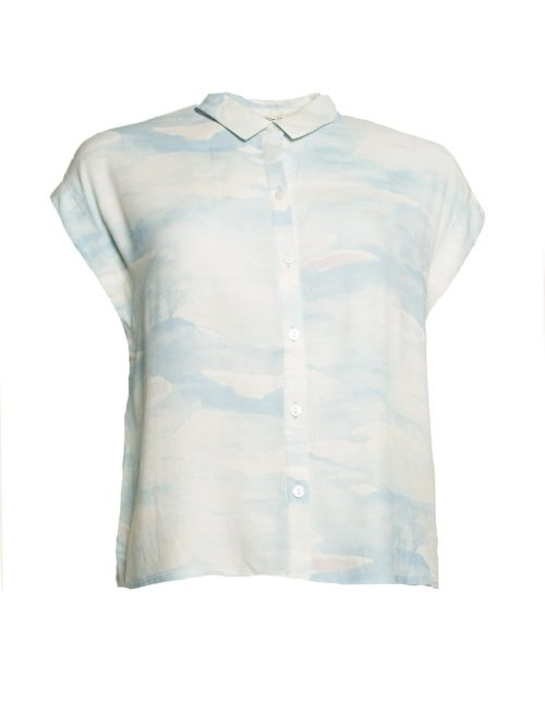 Cloudy Print Top Nice Things Katie Kerr Women's Clothing