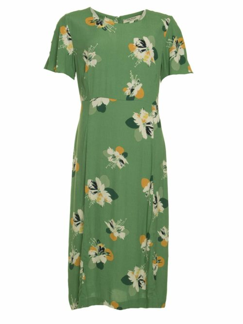 Shiny Flowers Print Midi Dress Nice Things Katie Kerr Women's Clothing