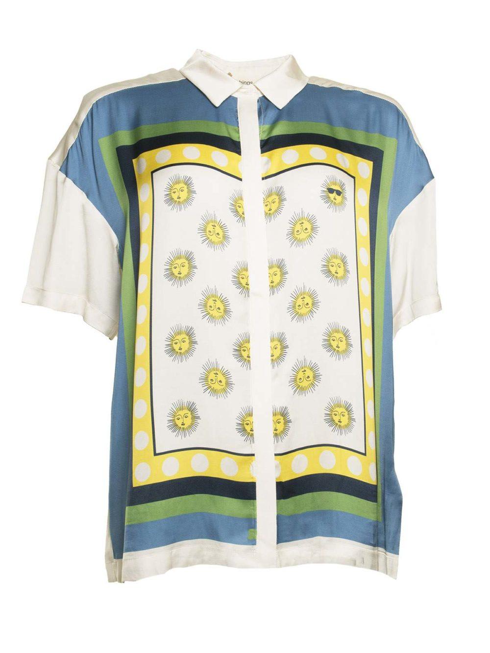 Scarf Shirt Nice Things Katie Kerr Women's Clothing