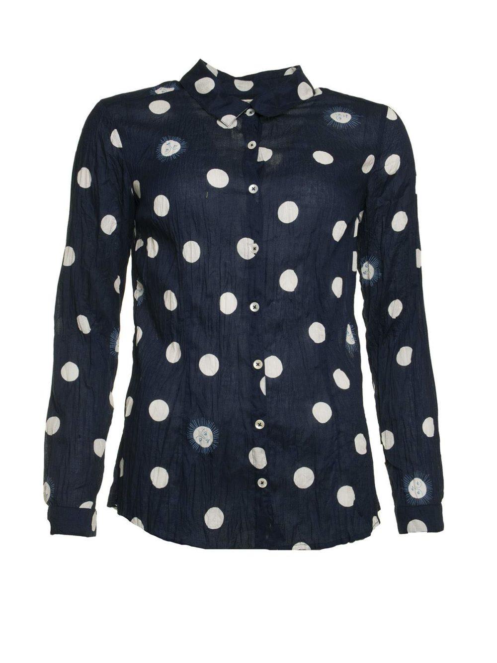 Sunny Dots Print Basic Shirt Nice Things Katie Kerr Women's Clothing