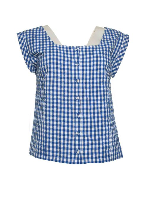 Blue Vichy Top Nice Things Katie Kerr Women's Clothing
