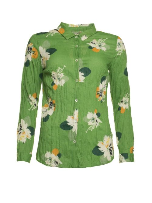 Shiny Flowers Print Basic Shirt Nice Things Katie Kerr Women's Clothing