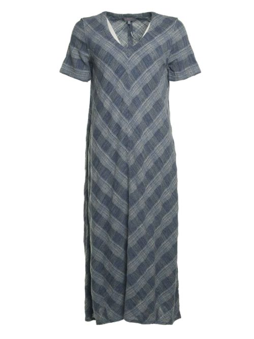 Chambray Cotton Check Dress Sahara Katie Kerr Women's Clothing