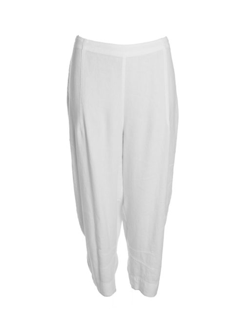 Textured Linen Cropped Trousers Sahara Katie Kerr Women's Clothing