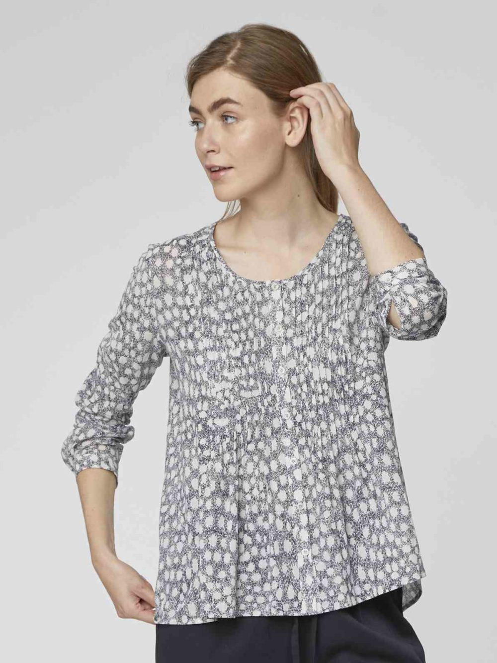Spot Dash Blouse Thought Clothing Katie Kerr Women's Clothing