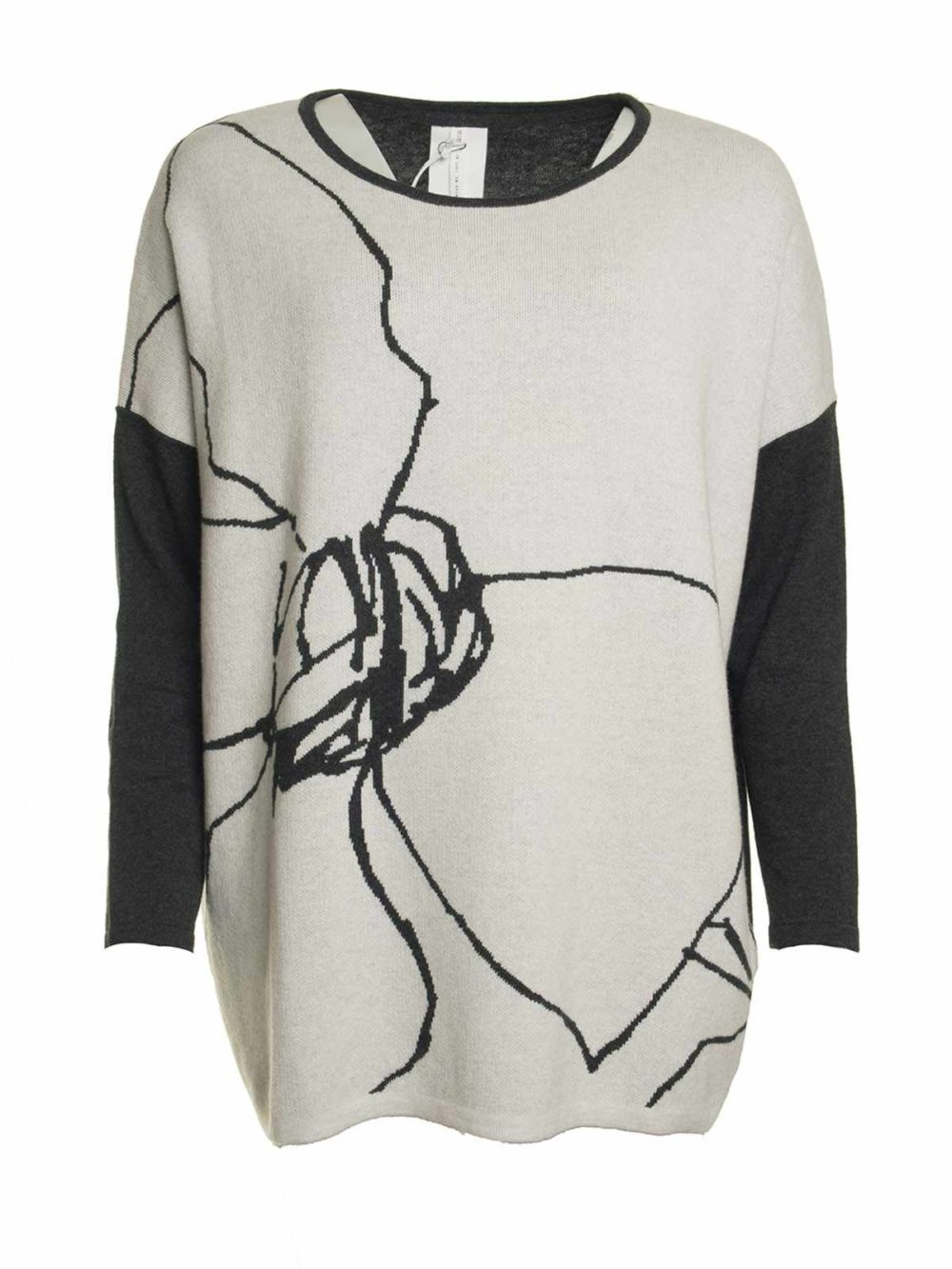 Flower Sketch Jumper Thought Clothing Katie Kerr Women's Clothing