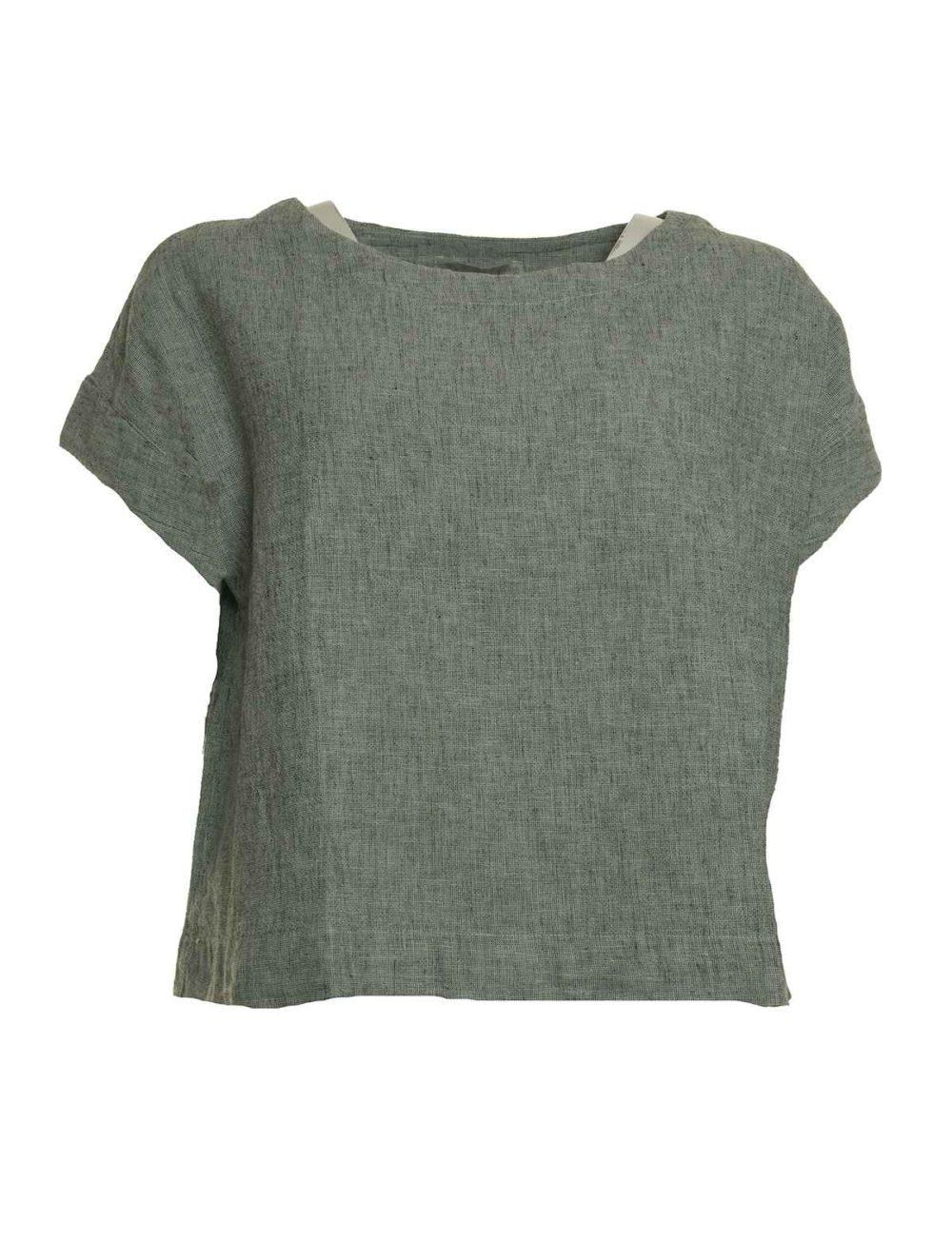 4196326 Crop Top Cut Loose Katie Kerr Women's Clothing