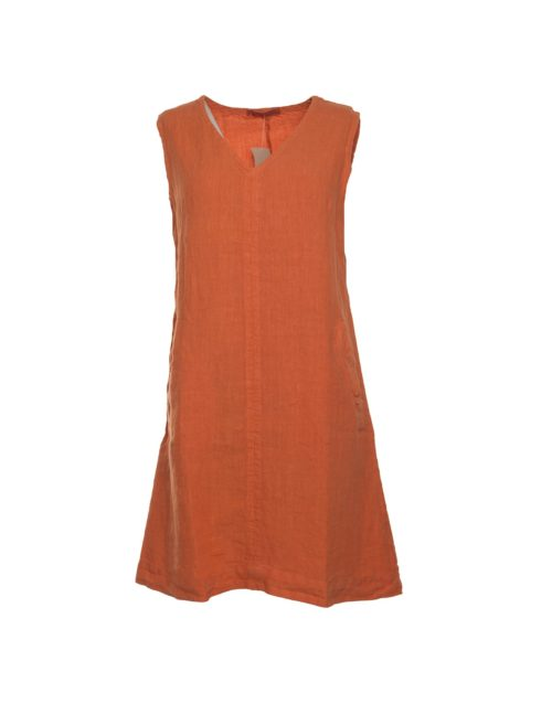 440076 V Neck Dress Cut Loose Katie Kerr Women's Clothing