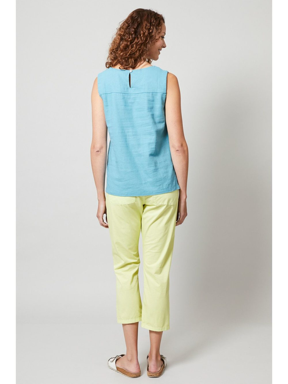 Twill Crop Trouser Lily and Me Katie Kerr Women's Clothing