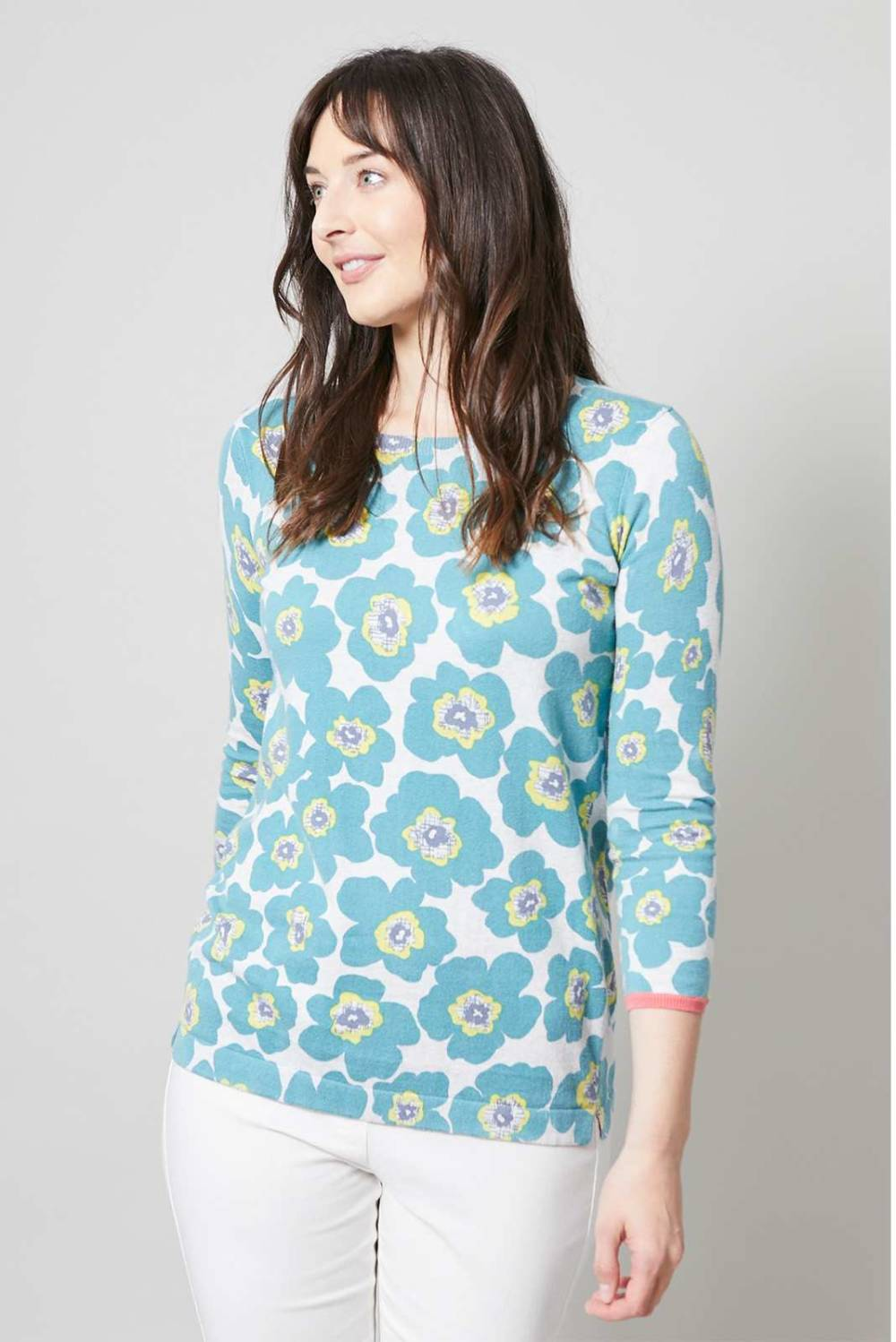 Favourite Jumper Modern Floral Lily and Me Katie Kerr Women's Clothing