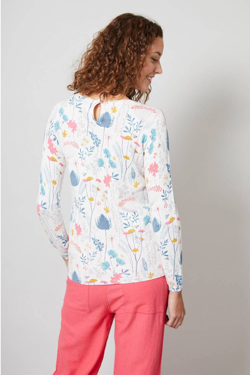 Oaksey Jumper Floral Meadow Lily and Me Katie Kerr Women's Clothing