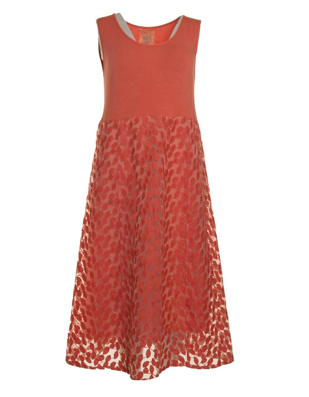 Leaf Embroidery Panel Dress Out of Xile Katie Kerr Women's Clothing