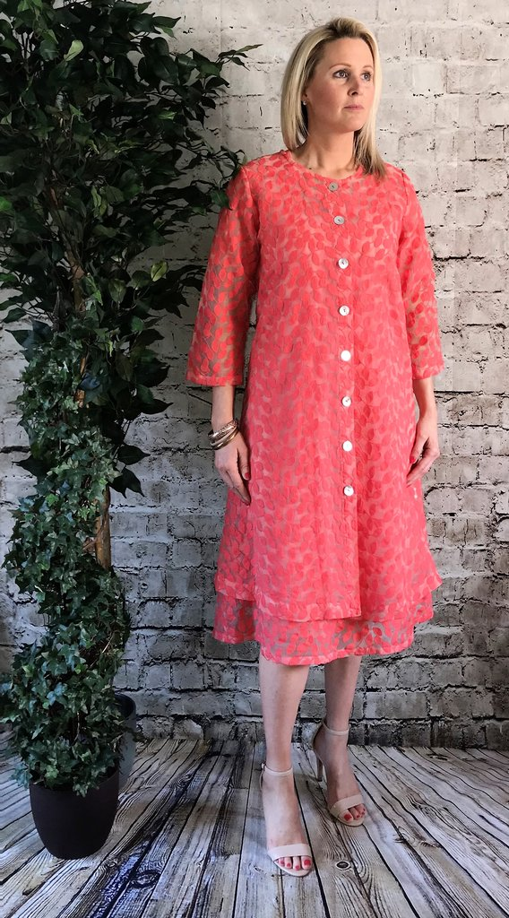 Out of Xile 01SS19 Orange Leaf Embroidery Coat
