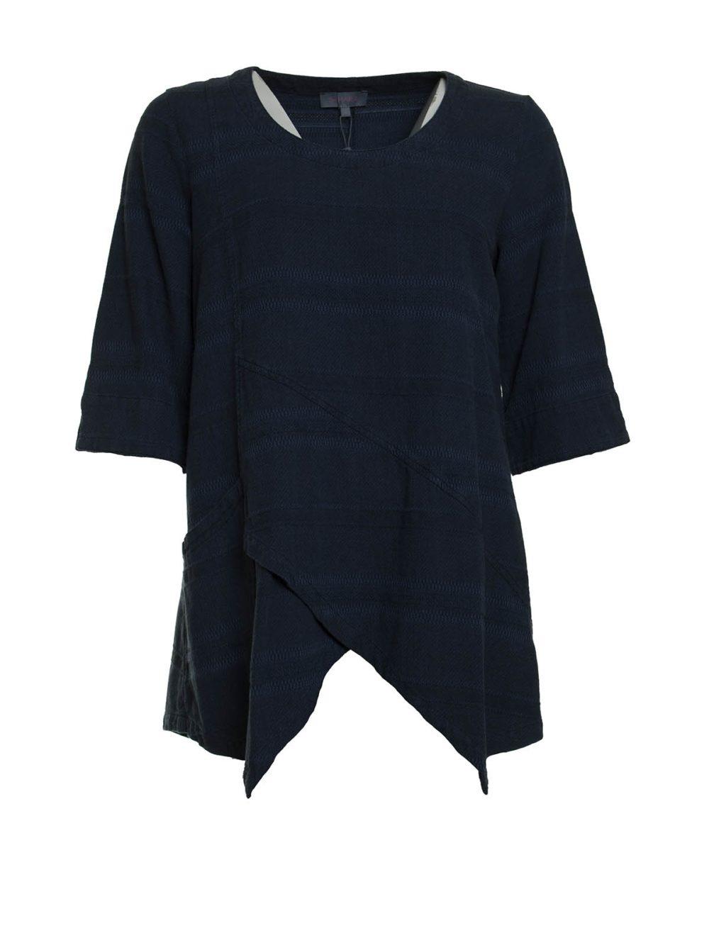 Denim Textured Stripe Tunic Sahara Katie Kerr Women's Clothing