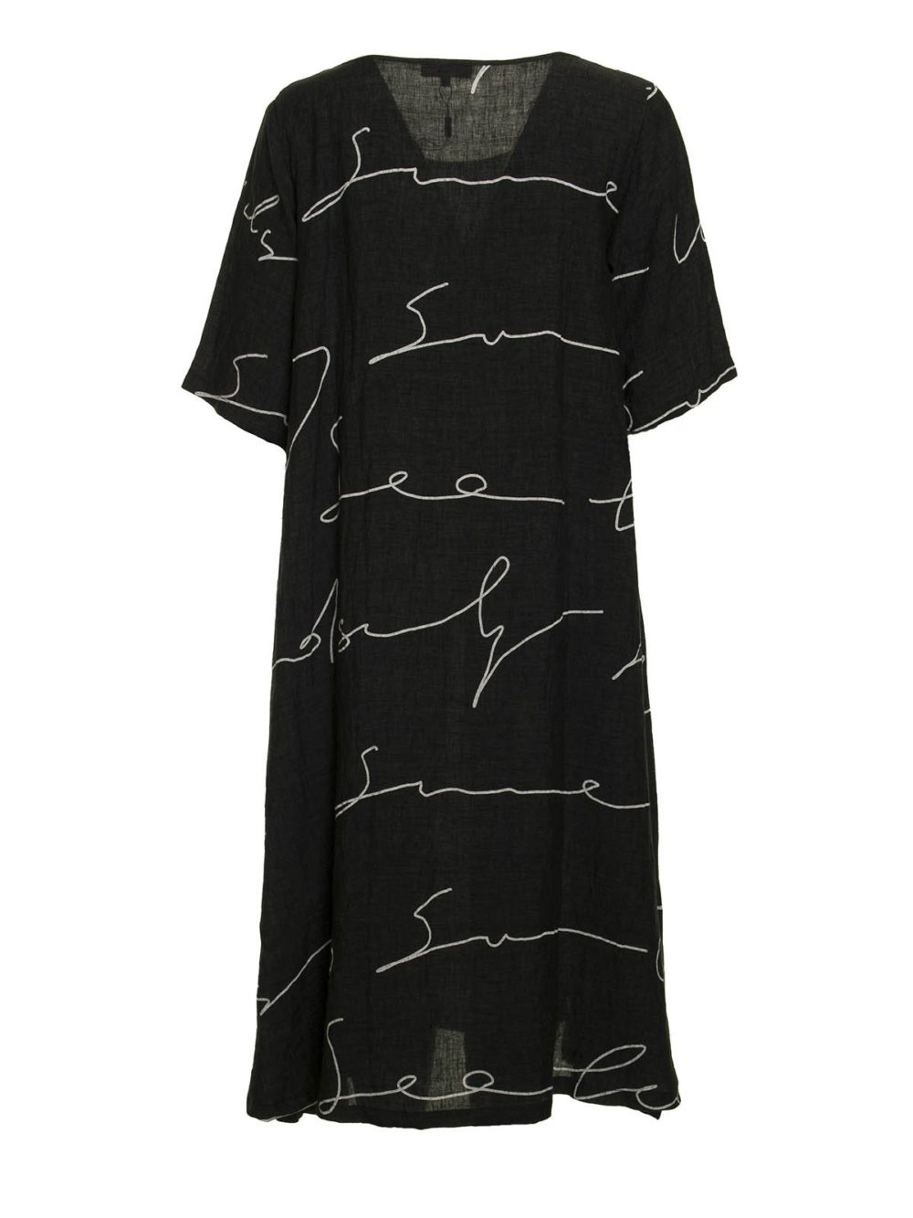 Signature Print Linen Dress Sahara Katie Kerr Women's Clothing