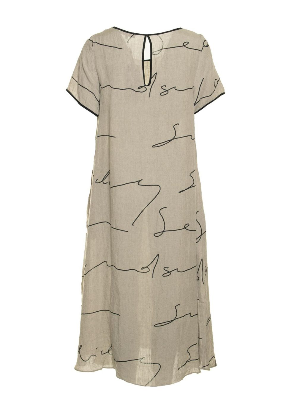 Signature Linen Print Dress Sahara Katie Kerr Women's Clothing