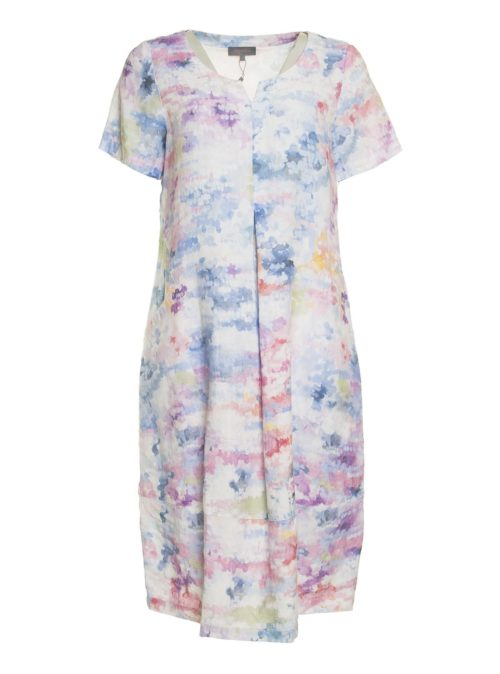 Dapple Linen Print Dress Sahara Katie Kerr Women's Clothing