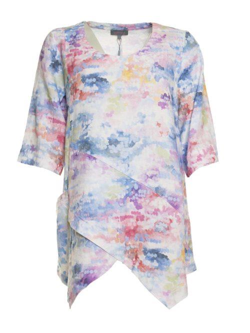 Dapple Linen Print Tunic Sahara Katie Kerr Women's Clothing
