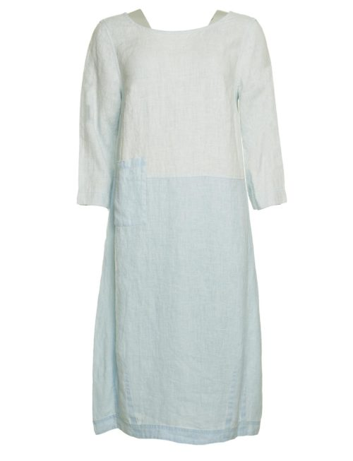 Chalk Linen Bubble Dress Sahara Katie Kerr Women's Clothing