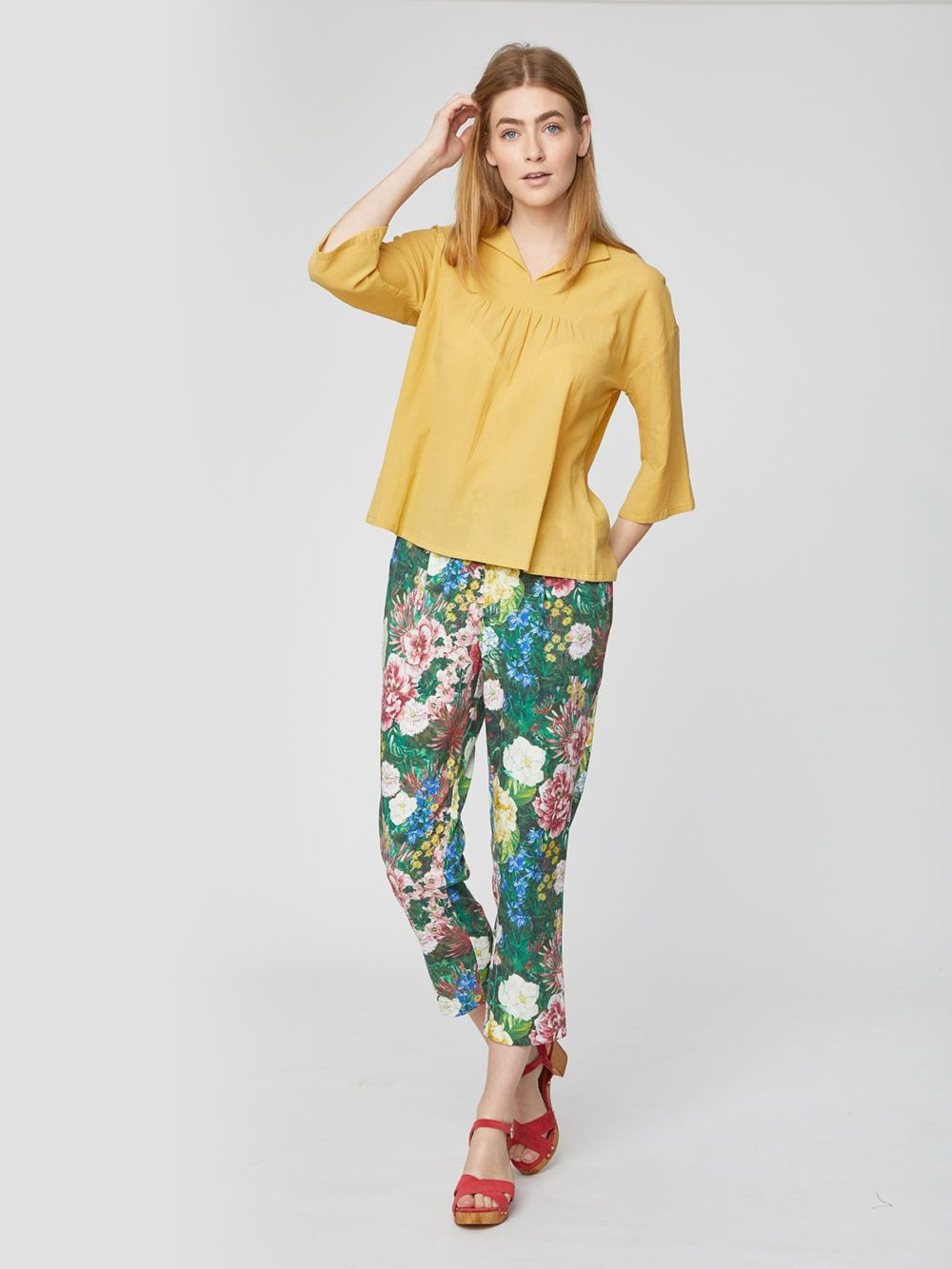 WSB4172 Leolani Trousers Thought Clothing Katie Kerr Women's Clothing