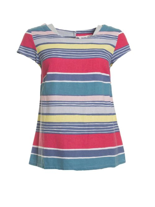 Sun and Shade Top Stripe Lily and Me Katie Kerr Women's Clothing