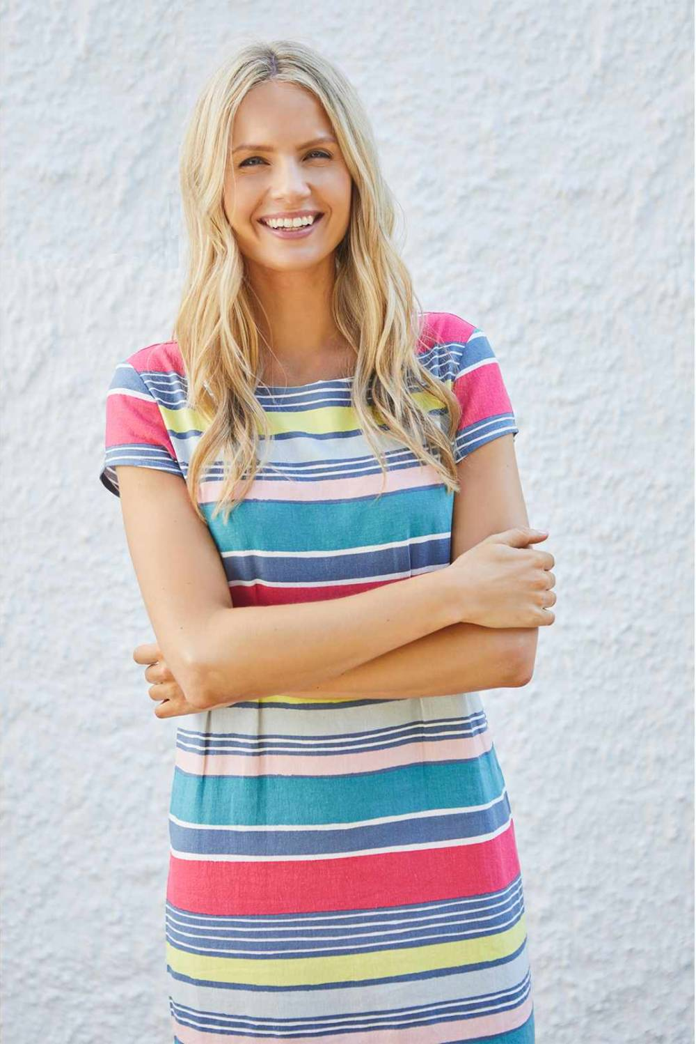 Sandy Bay Dress Stripe Lily and Me Katie Kerr Women's Clothing