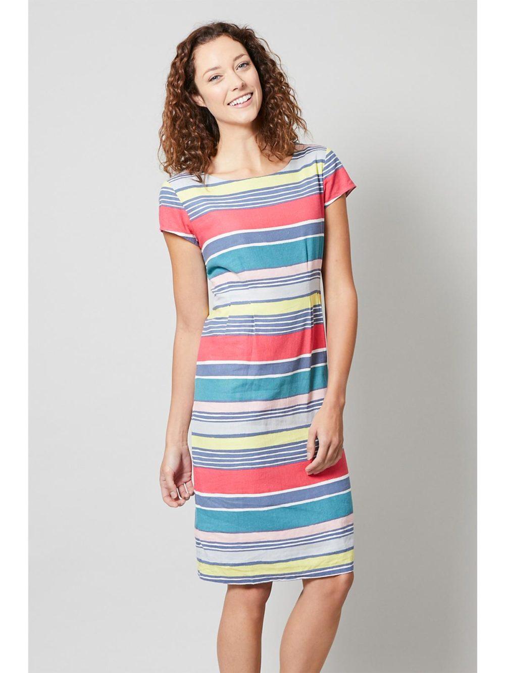 Sandy Bay Dress Stripe Lily and Me Katie Kerr Women's Clothing