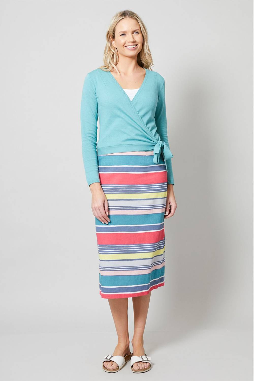 Midi Skirt Stripe Lily and Me Katie Kerr Women's Clothing