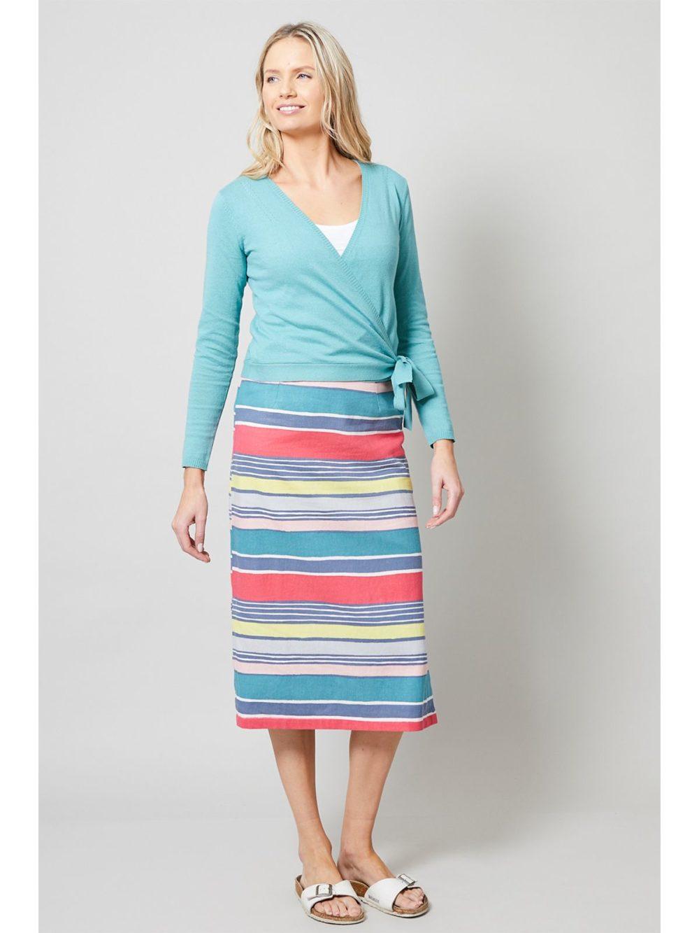 Midi Skirt Stripe Lily and Me Katie Kerr Women's Clothing