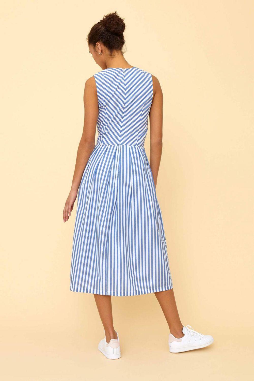 Emily & Fin Josie Sunflower Stripe Midi Dress